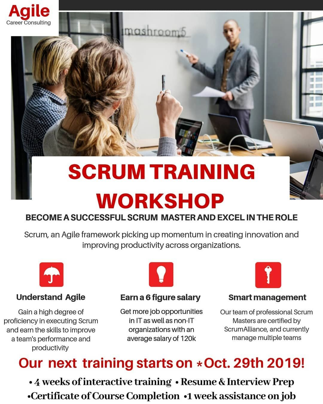 Our next Scrum Master Training begins in a few weeks? Have
