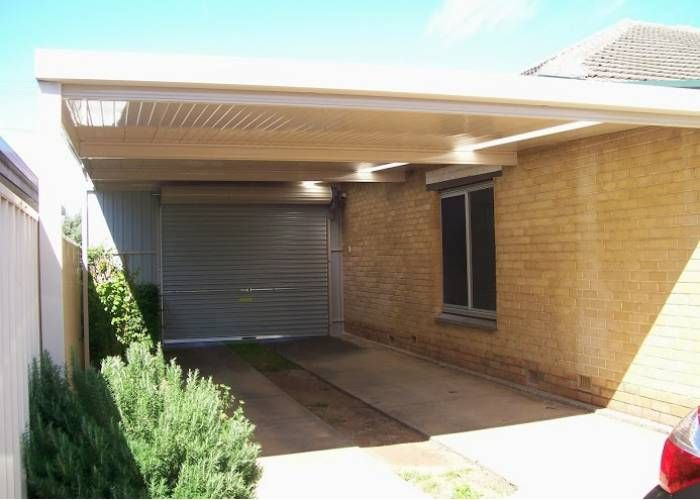 Skillion carport with roller door house stuff pinterest roller