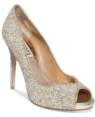 d5e3fe9d6603 Badgley Mischka Kassidy Glitter Evening Pumps - All Women s Shoes - Shoes -  Macy s