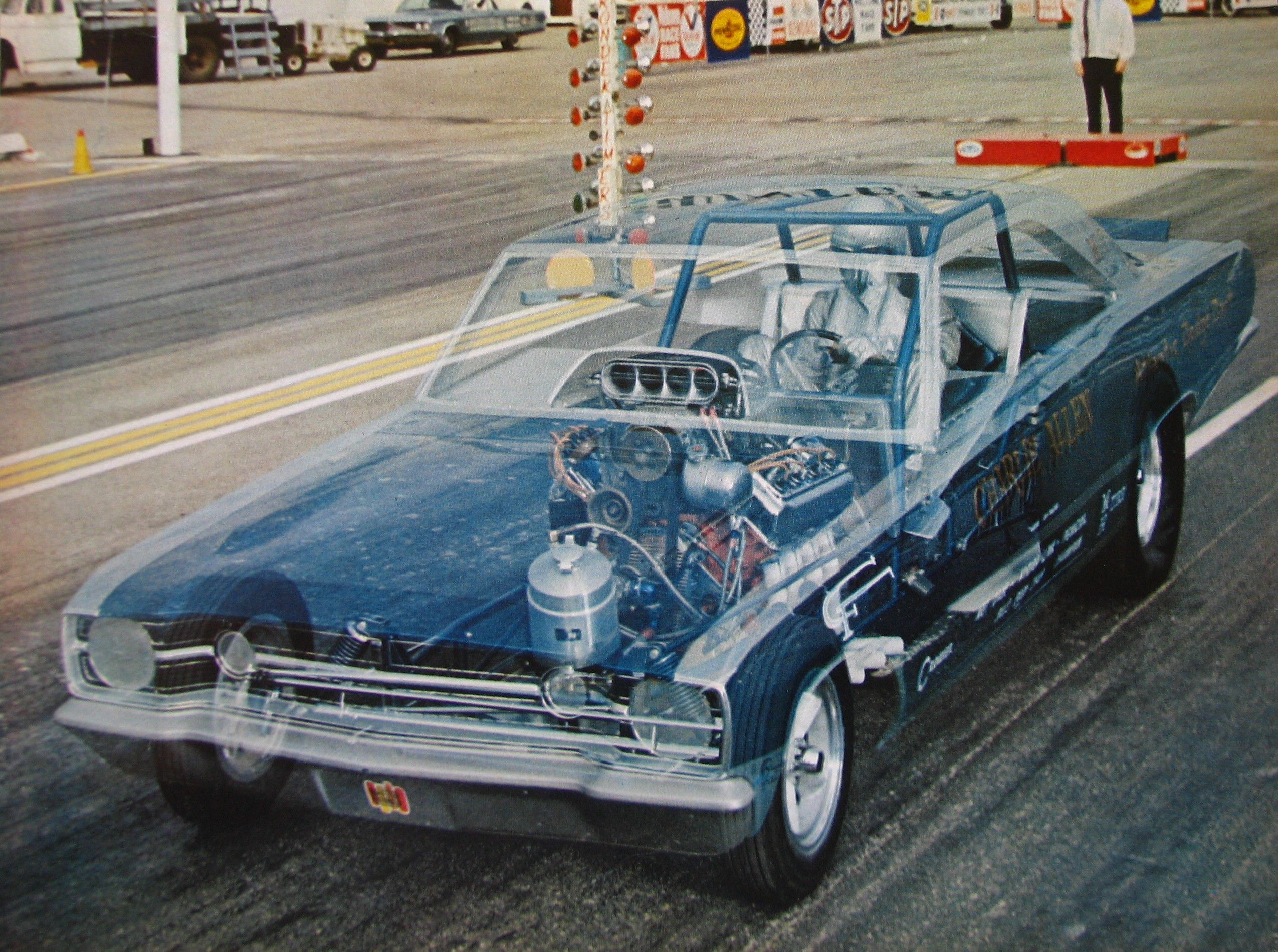 Ghost view of Charlie Allen\'s AA/FC Funny Car | drawing | Pinterest ...