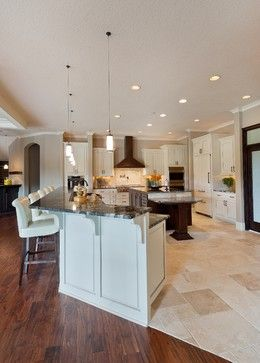 Wood And Tile Flooring Design Ideas Pictures Remodel And Decor Directsource Floors Vi Modern Kitchen Flooring Kitchen Floor Tile Modern Kitchen Tile Floor