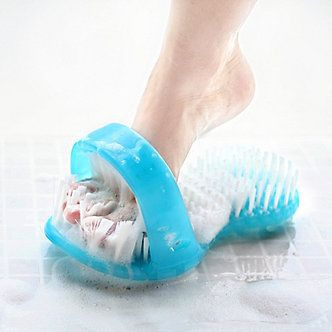 Shower Sandal Foot Scrubber give you a thorough foot scrub in one step!