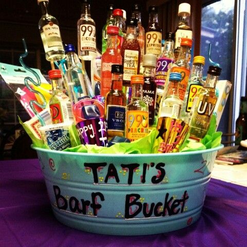 Daughters 21st Birthday 21 Barf Bouquet Alcohol Gifts For Guys