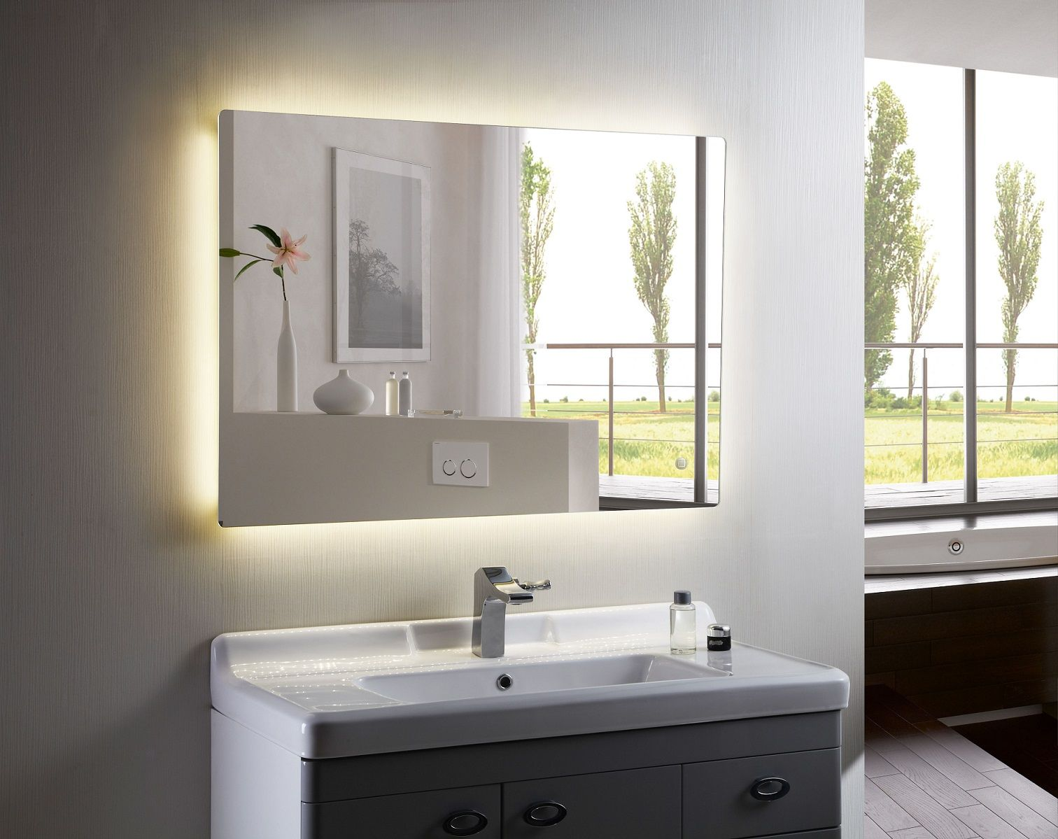 Pin By The Best Home Decor Ideas On 59 Bathroom S Bathroom Mirror Led Mirror Bathroom Backlit Bathroom Mirror