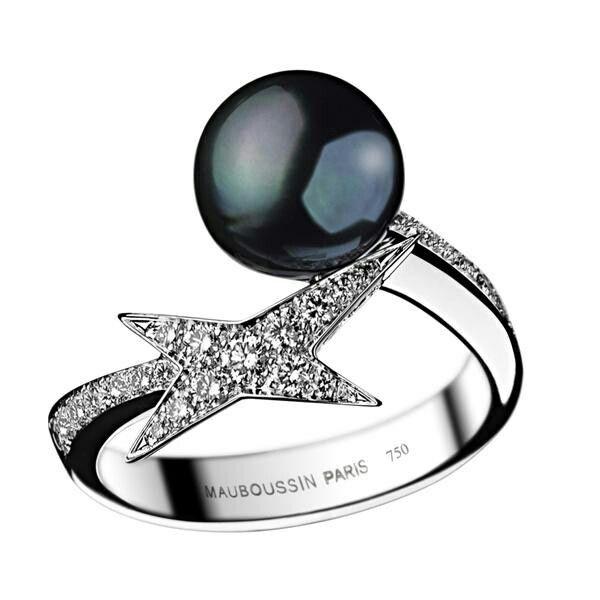 bague perle noire mauboussin