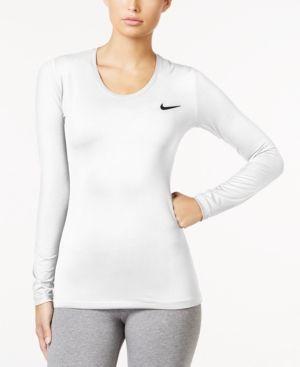 Nike Pro Dri-fit Long-Sleeve Training Top - White XL