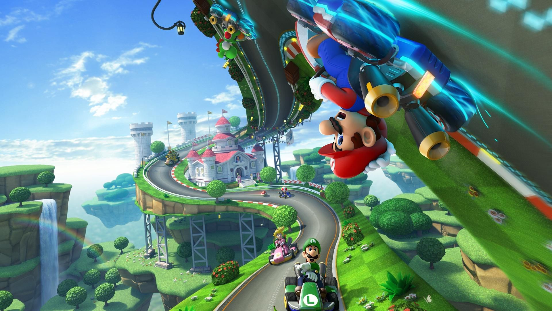 Super Mario HD Backgrounds Mario kart 8, Mario kart, Mario