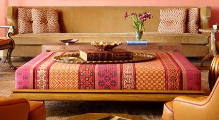 Bohemian Interiors Iv Bohemian Interior Upholstered Coffee