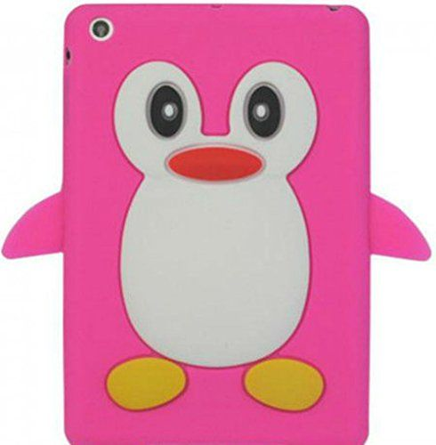 """Passion Sunset Pink {Cute Penguin with Flippers} Soft and Smooth Silicone Cute 3D Fitted Bumper Back Cover Gel Case for iPad Mini 1, 2 and 3 by Apple """"Durable and Slim Flexible Fashion Cover with Amazing and Creative Cartoon Design - All Ports Accessible"""" mySimple Products http://www.amazon.com/dp/B00WL9SWV2/ref=cm_sw_r_pi_dp_GElCwb1S36AA1"""