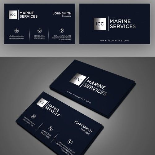 Icc marine business cards marine construction personal logo icc marine business cards marine construction colourmoves