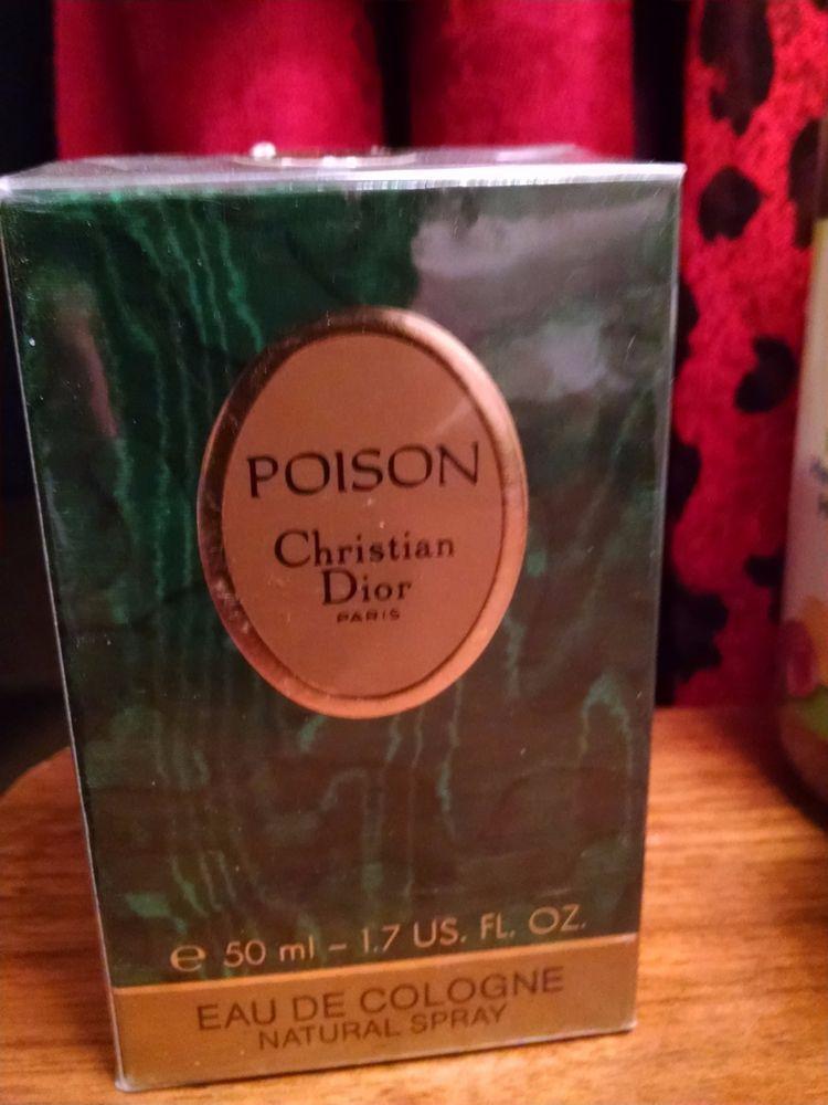 Estate Rare Sealed Christian Dior Poison EDC Eau De Cologne 1.7 oz Spray Perfume #ChristianDior