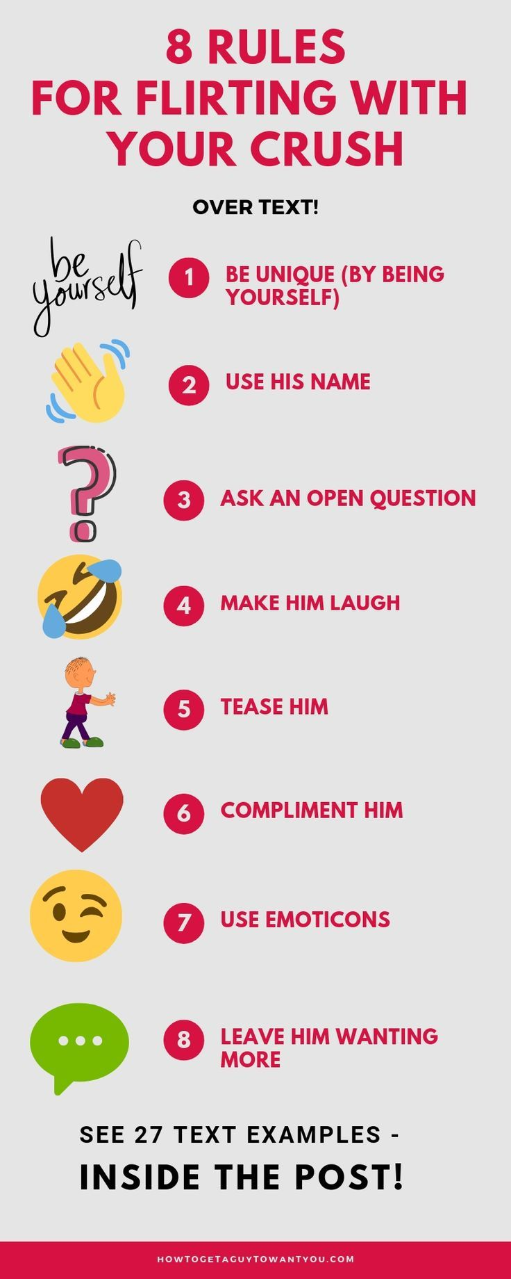 How to Flirt with a Guy over Text (+37 Flirty Text Examples!) | Flirty texts, Crush texts