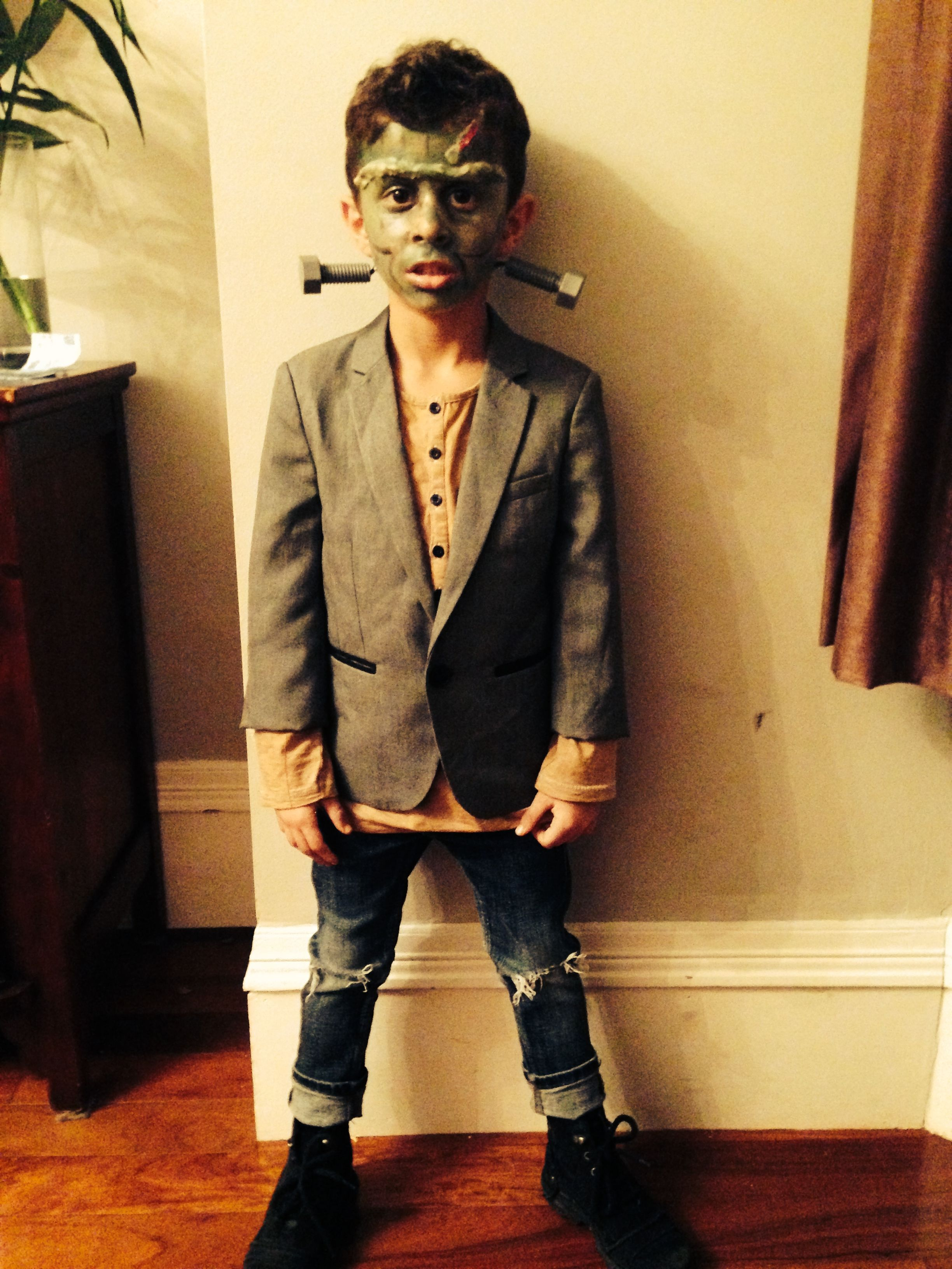 Kids Frankenstein Costume In 2019 Frankenstein Costume