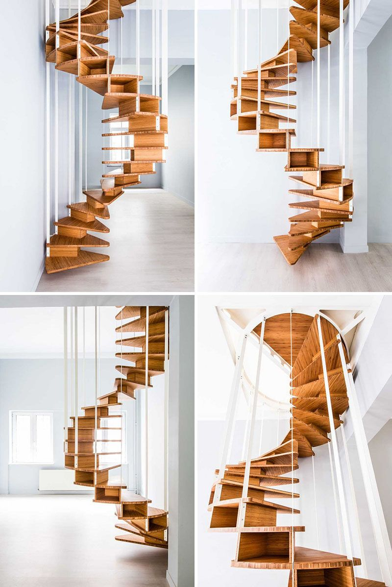 16 modern spiral staircases found in homes around the world stairs rh pinterest com