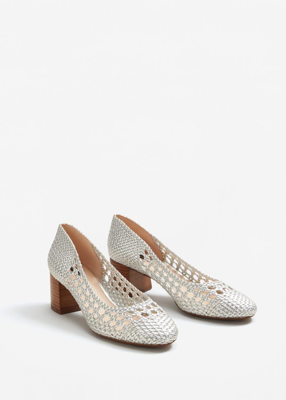 d85c2a90669d Chaussures tressées métallisées - Femme