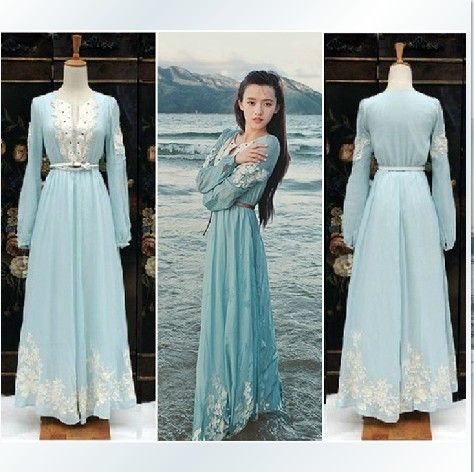 Long Sleeved Maxi Dress Casual Photo Album - Reikian