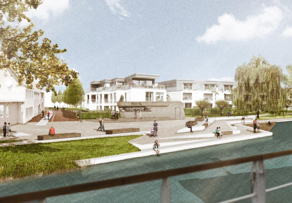 Promenade und Platz am Kanal Senden: lad+ landschaftsarchitektur diekmann | hannover | germany