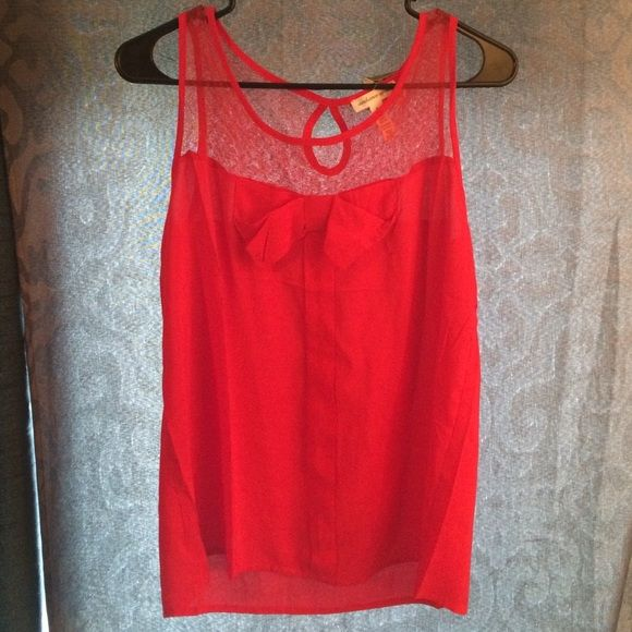 Pretty ambiance red blouse Firm price.Ambiance apparel red blouse. Brand new Ambiance Apparel Tops Blouses