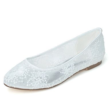 Women's+Wedding+Shoes+Ballerina+/+Round+Toe+Flats+Wedding++/+Party+&+Evening+Black+/+Pink+/+Ivory+/+White+–+USD+$+34.99