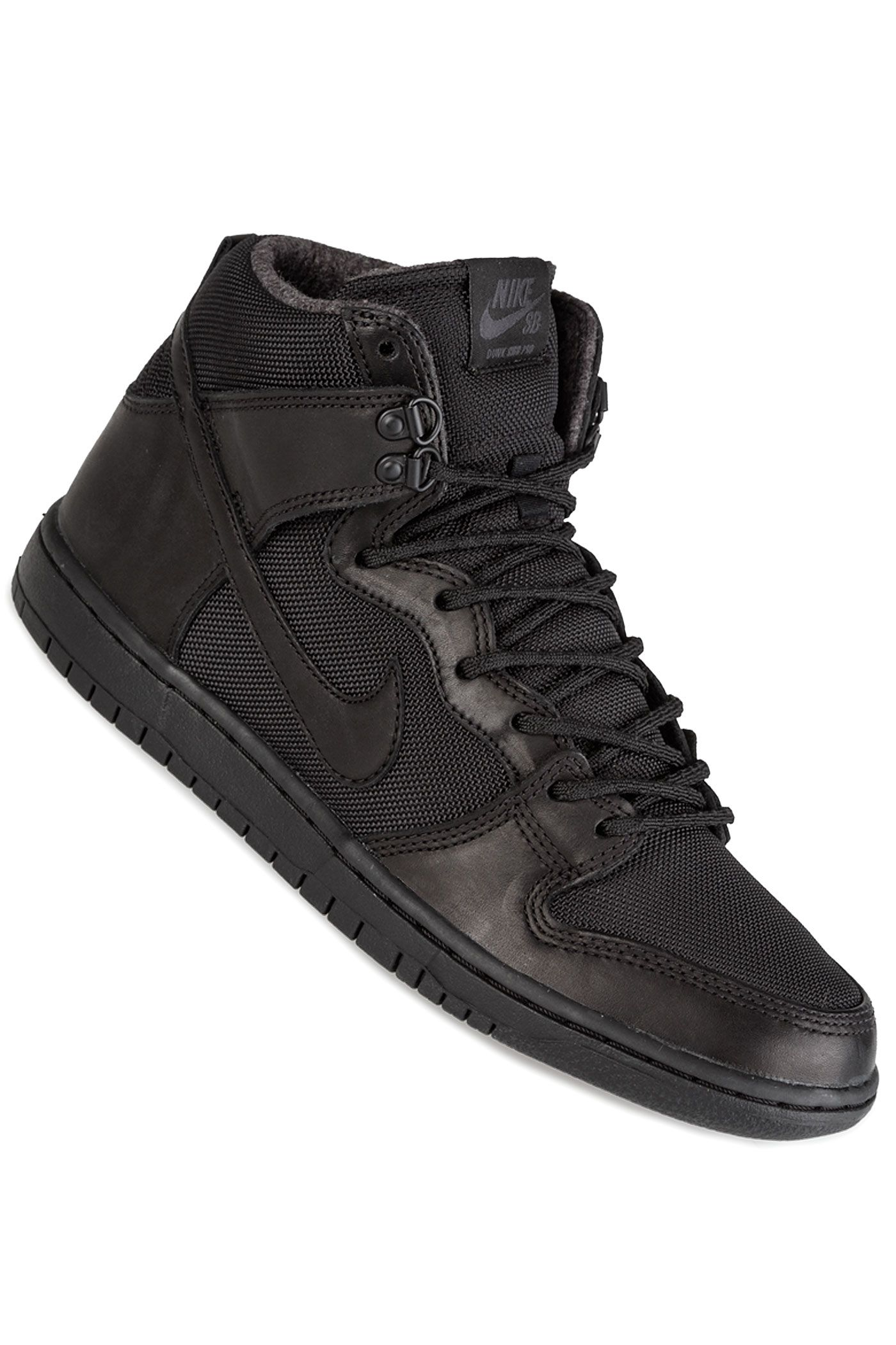 Nike SB Dunk Hi Pro Bota Schoen (black black) in 2019