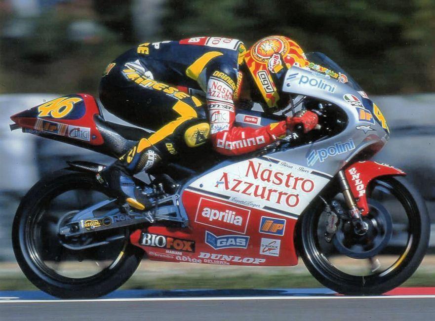 Valentino Rossi Aprilia Rs125 Motogp 125cc Racing Bikes Pinterest