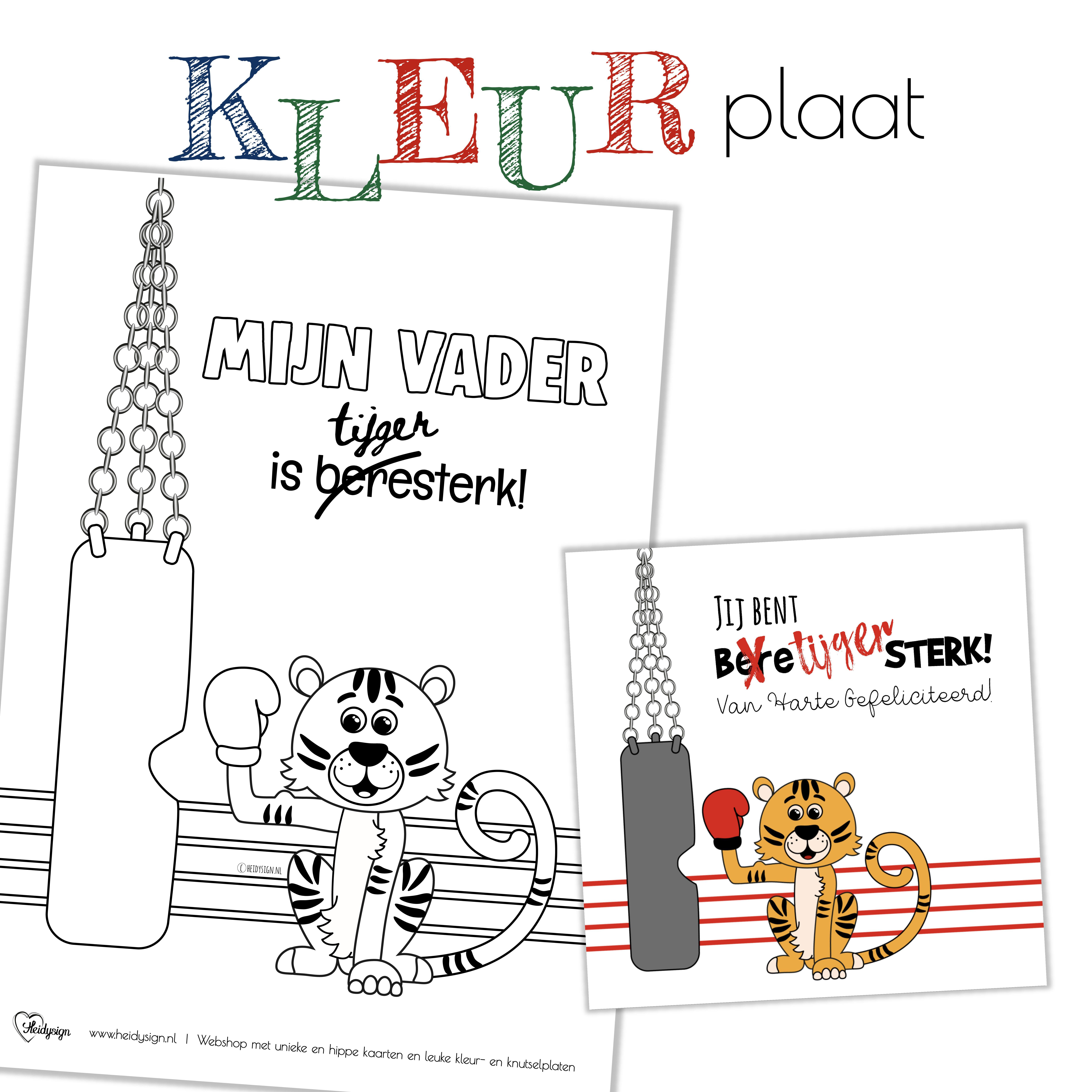 Stoere Kaart En Kleurplaat Voor Vaderdag Kleurplaten Gratis Kleurplaten Kaarten