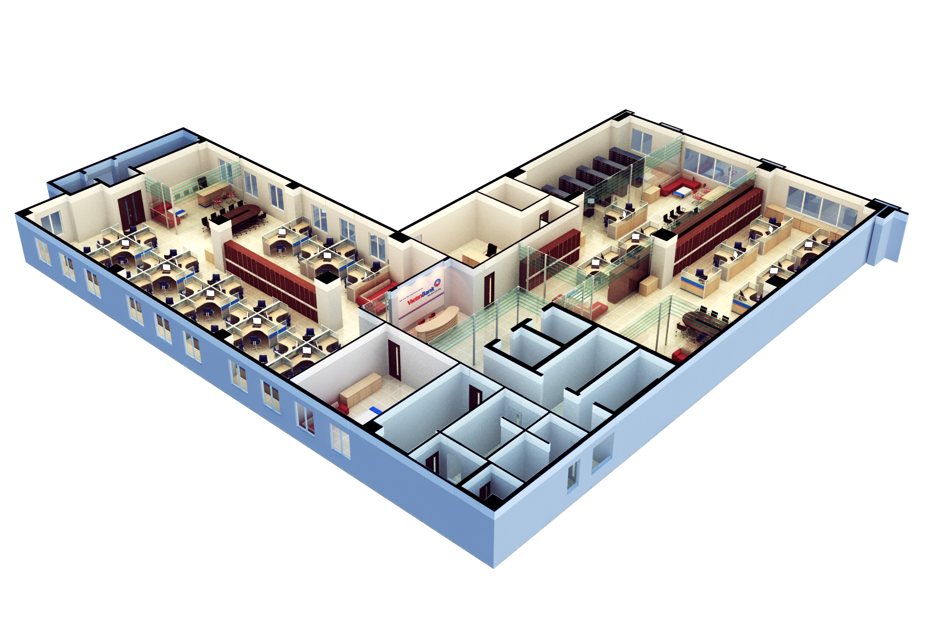 3d floor plan software free with modern office design for for Office table 3d design