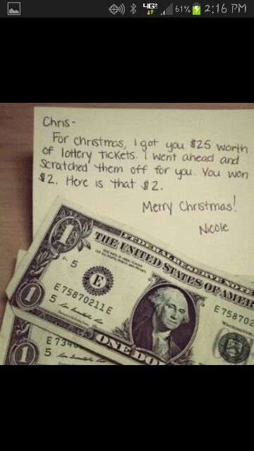 White Elephant Gift Idea - how funny! Bought lotto tickets ...