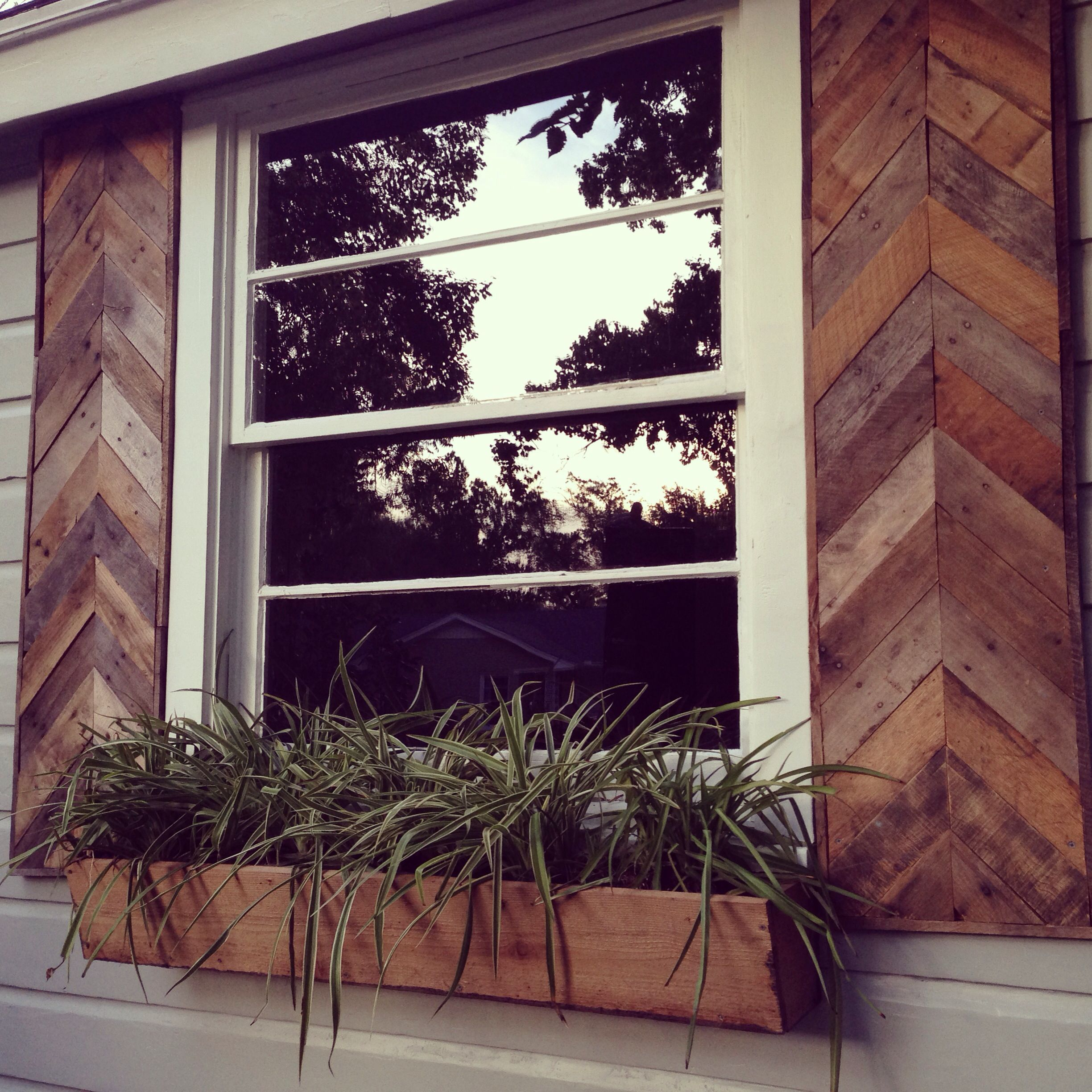 Shutters and window box for a clients home emagnoliamom