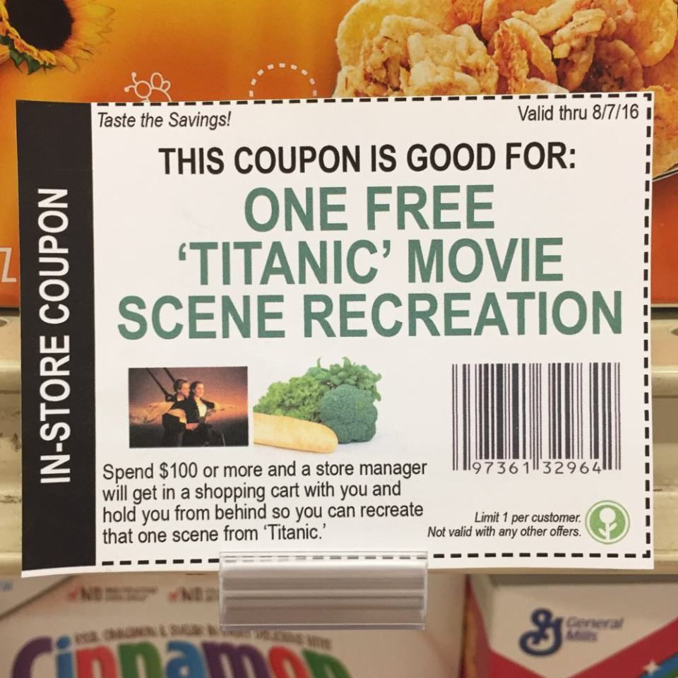 Hilarious Fake InStore Coupons Funny Pics Pinterest - Walking dead intro recut drunk people