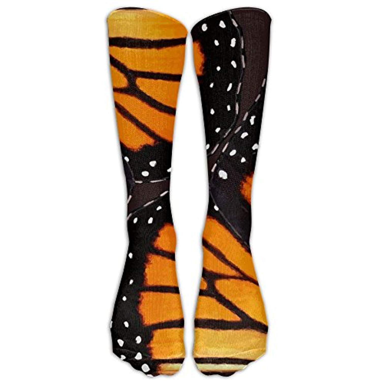 Fashion Travel Breathable Socks Orange Monarch Butterfly Men /& Women Running Casual Socks