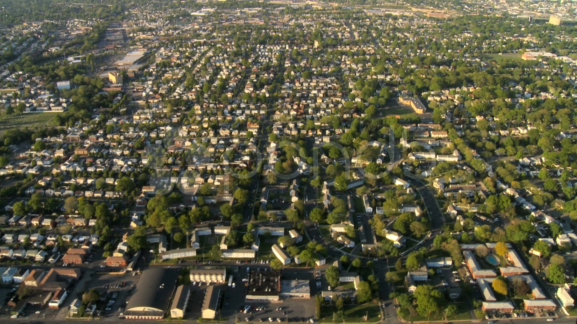 Aerial View Of New Jersey And Suburbs New York State Ny Usa Stock Footage Suburbs York Jersey Aerial Aerial View Aerial New York State