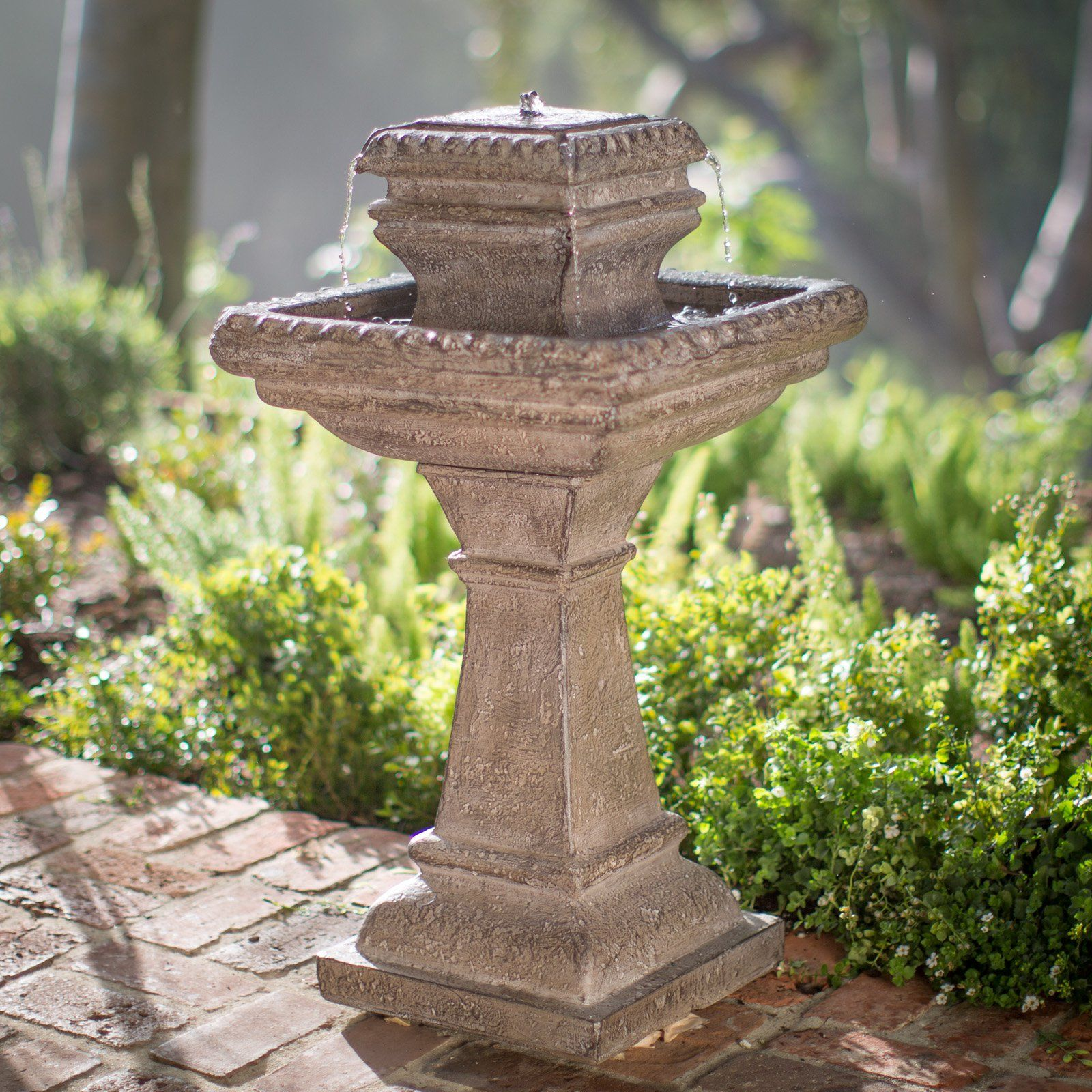 Outdoor Tiered Solar Fountain