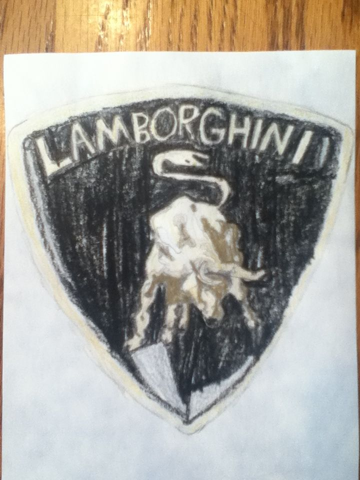Started Drawing The Lamborghini Logo Yesterday And Just Finished