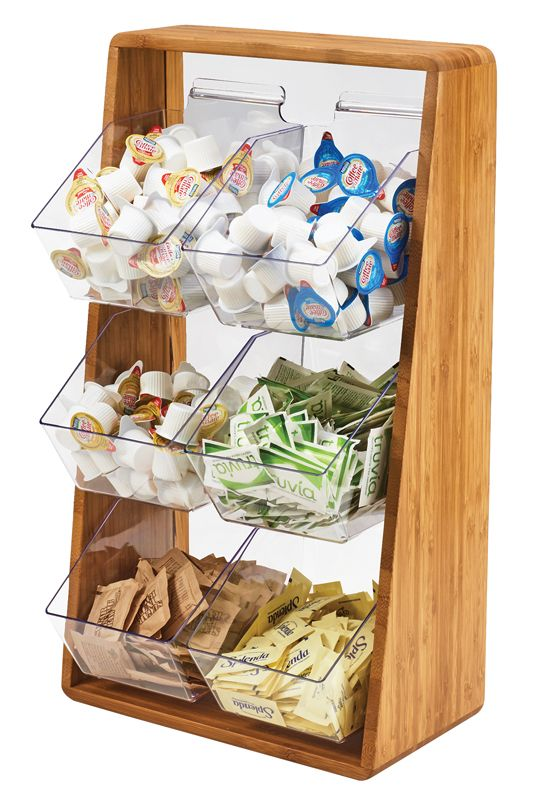 Item 3569 6 60 Removable Compartment Condiment Organizers Coffee Counter