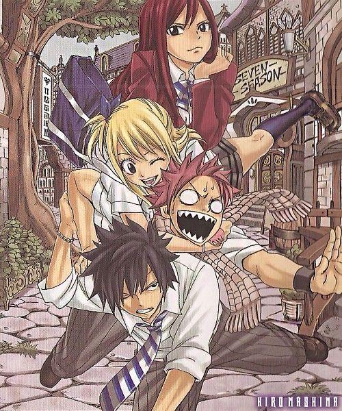 School   Gray, Natsu, Lucy, Erza   fairy tail   Fanfic fairy