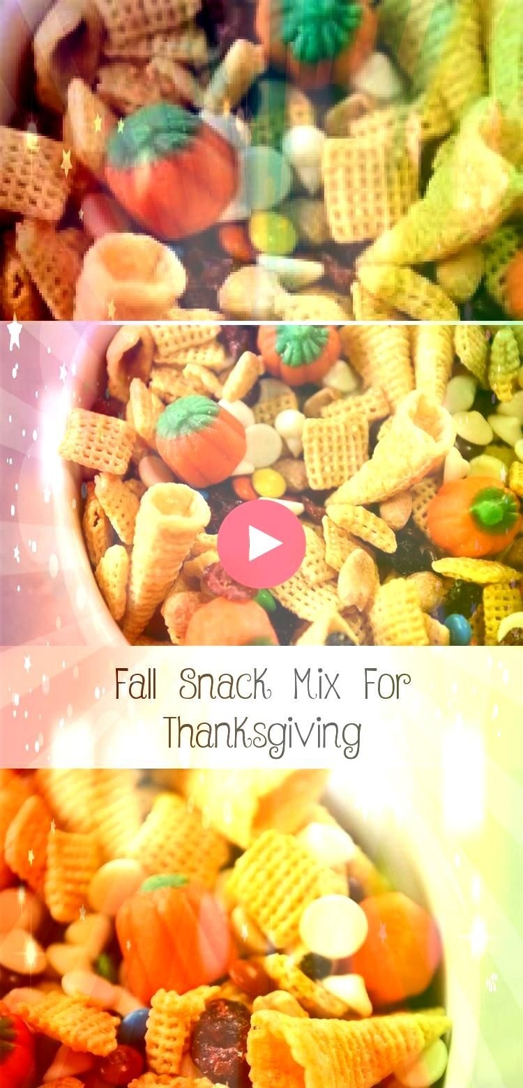Snack Mix For Thanksgiving My kids love to help out making this Thanksgiving Fall Snack Mix We love the salty sweet taste and its great to enjoy all season longFall Snack...