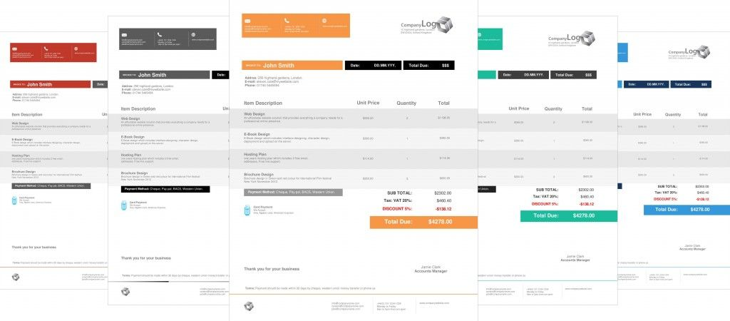 Modern & Clean Invoice Template (Office Word + PDF