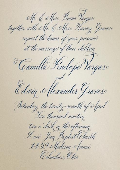 Love Letter Shimmer Wedding Invitation In 2018 Wedding Invites