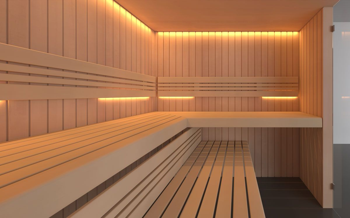 Katmai mit Saunabänken auf Eck   Saunas   Pinterest   Saunas