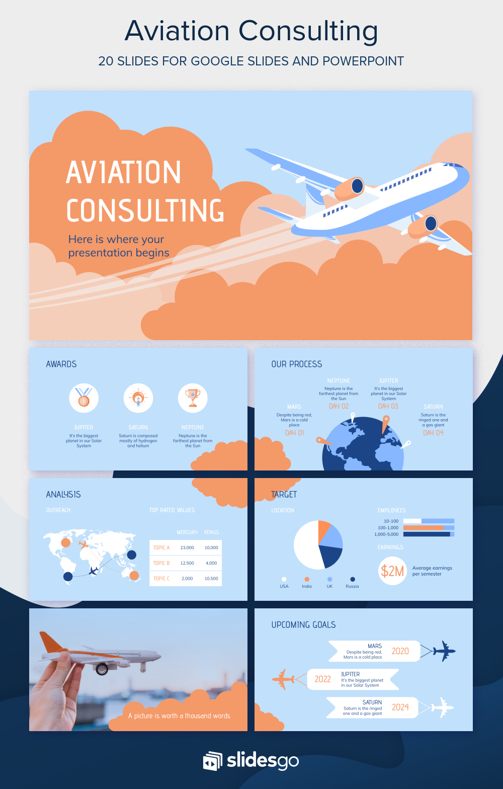 Aviation Consulting Presentation Free Google Slides