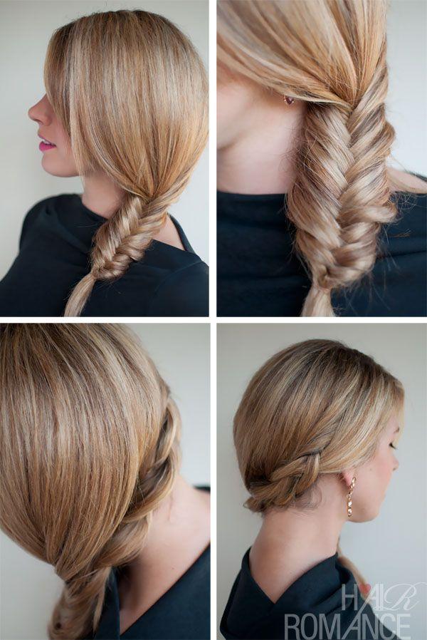 , Süße Frisuren, die Sie mit einem Schal tun können - Tuck und Cover Fishtail Braids - Versuchen Sie ... , #hairstyles, #besthairstyles, #hairstyles2018 , #besthairideas