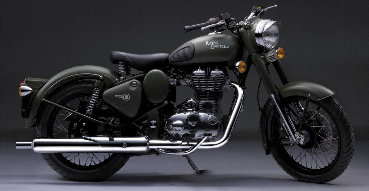 Royalenfield Classic 500cc Battle Green Color Royal Enfield