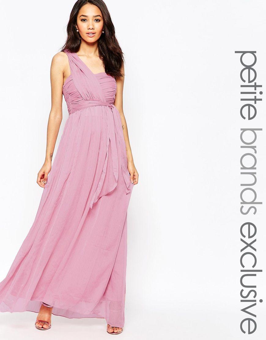 True Decadence Petite One Shoulder Soft Maxi Dress | Bridesmaids ...