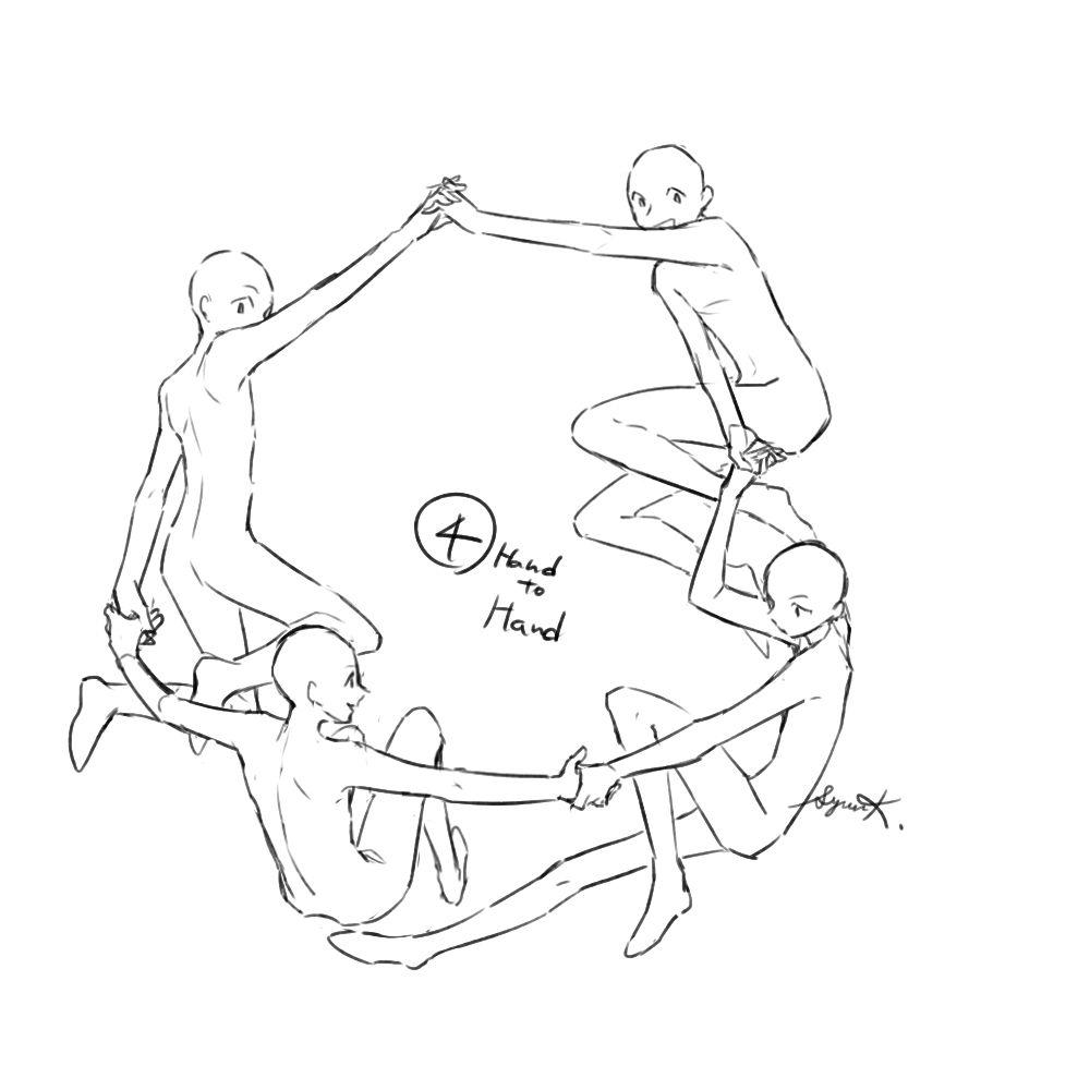 トレス可 環状構図集 10 スケッチ 集合絵 イラスト