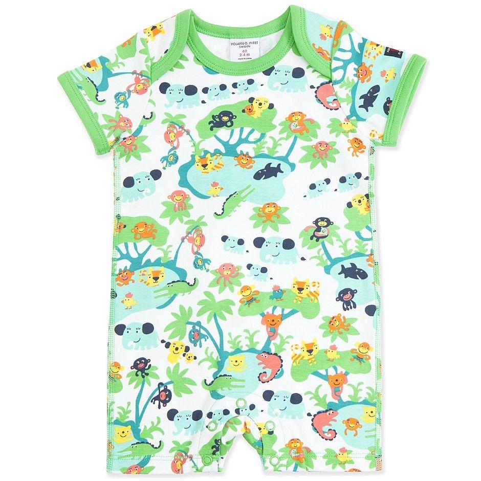 e9445cd54460 Polarn O. Pyret Quirky Scandi Animals Newborn Baby Bodysuit ...