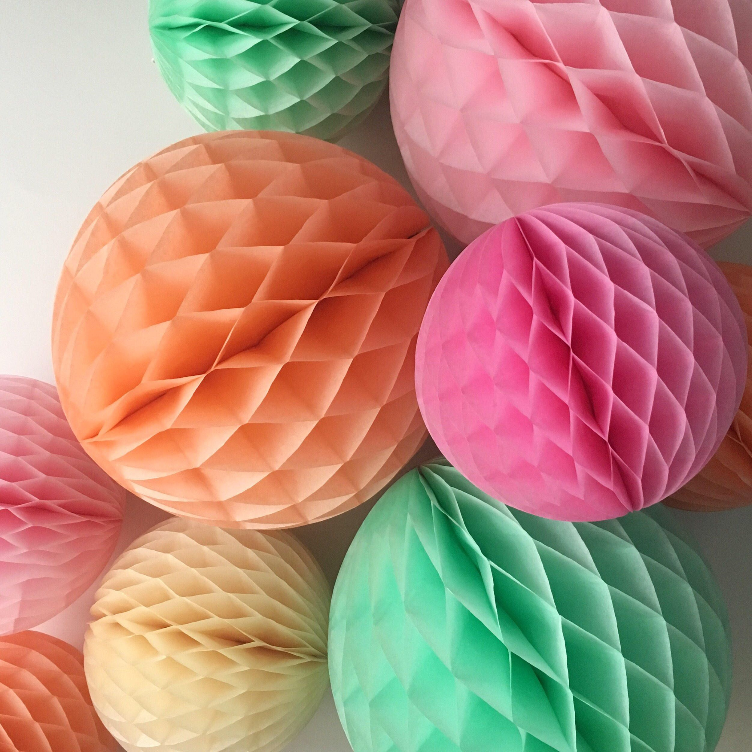 Honeycomb Ball 8 Inch Wedding Decorations First Birthday Party Photo
