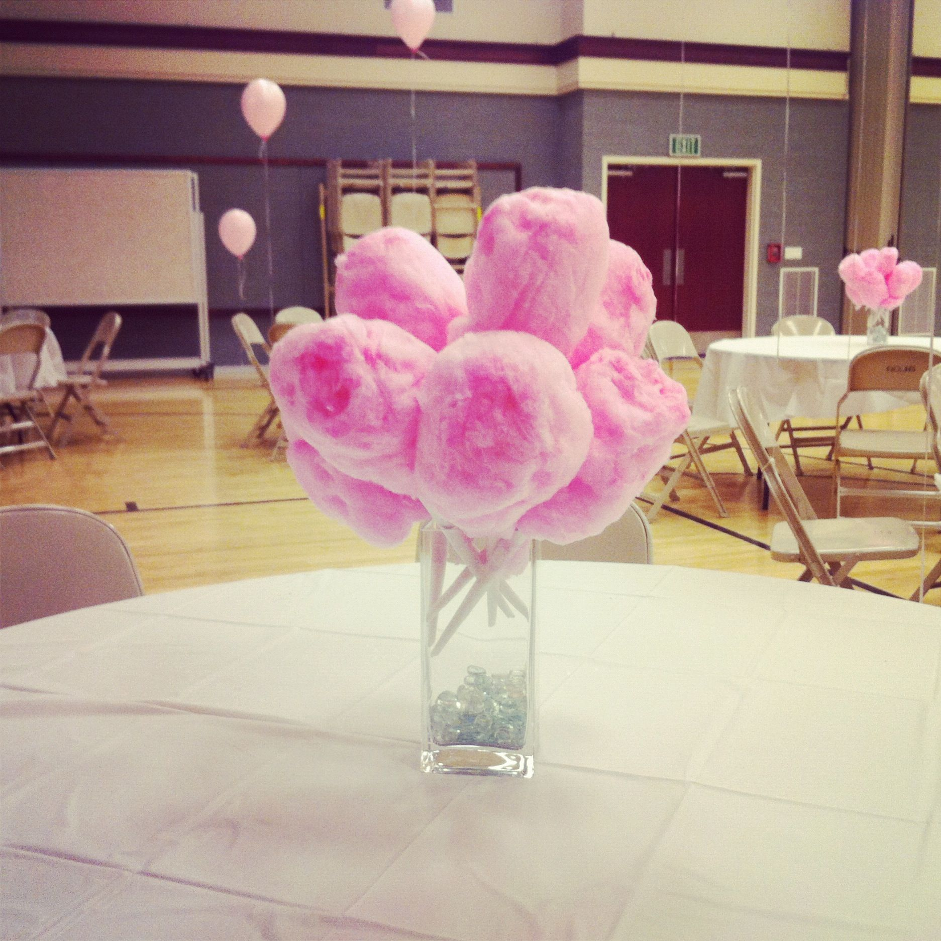 Cotton Candy Centerpieces- but instead use glowing cotton candy ...