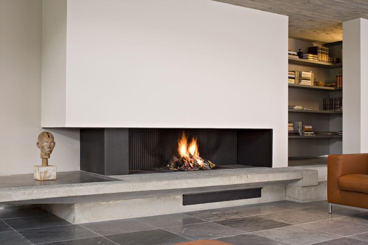 chemin e waco line bois largeur 120 art du feu moderni. Black Bedroom Furniture Sets. Home Design Ideas