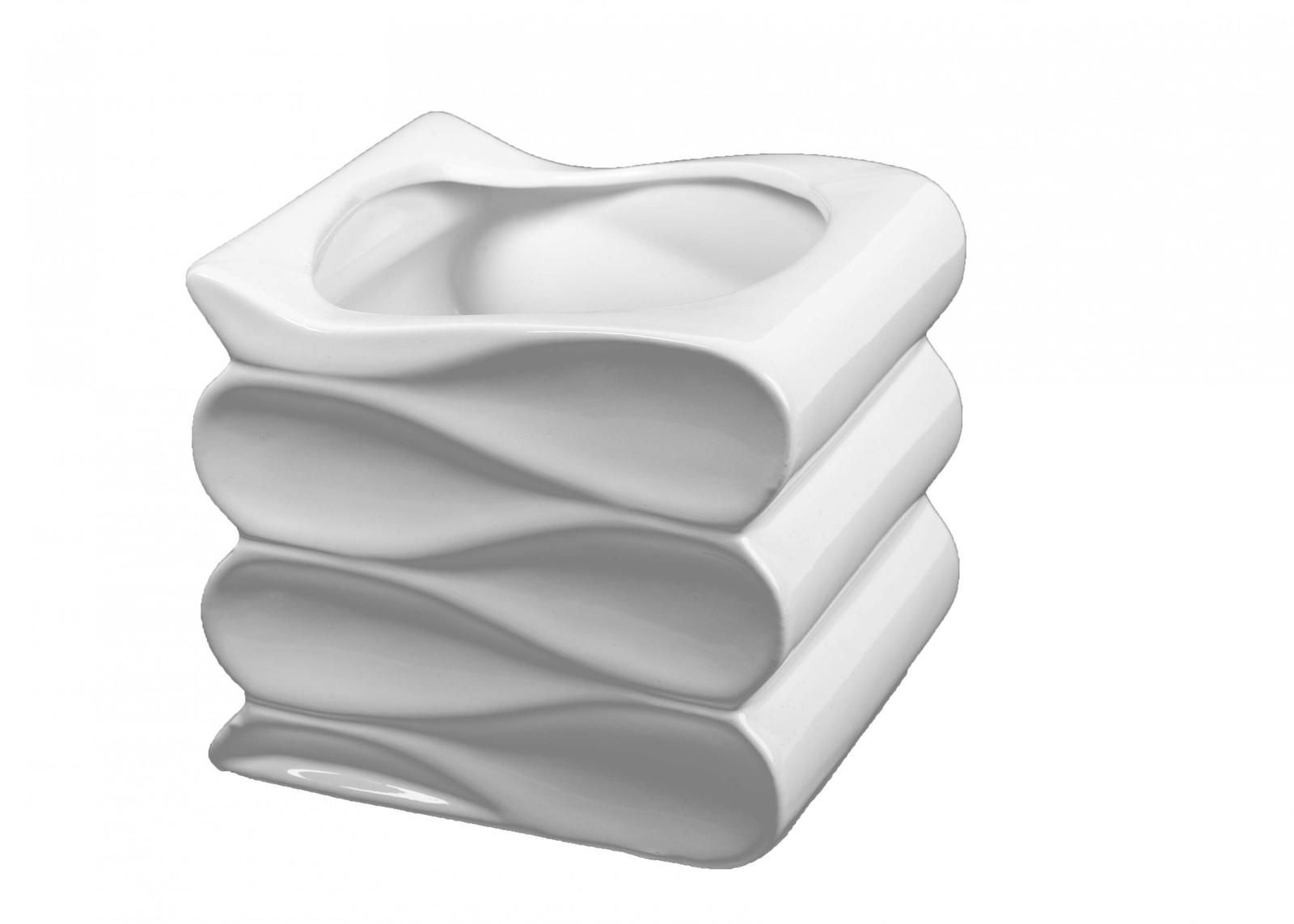 Osłonkadoniczka Ceramiczna Fala Biała 14 Cm Inspiracje